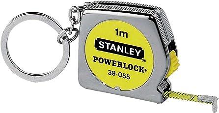 Stanley Bandmass Powerlock (1 m mit Schlüsselring, automatischer Bandrücklauf, Fetsstellmechanismus, Kunststoff) 0-39-055