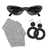 WIDMANN 95717–50's Lady Set Gafas, Pendientes y pañuelo