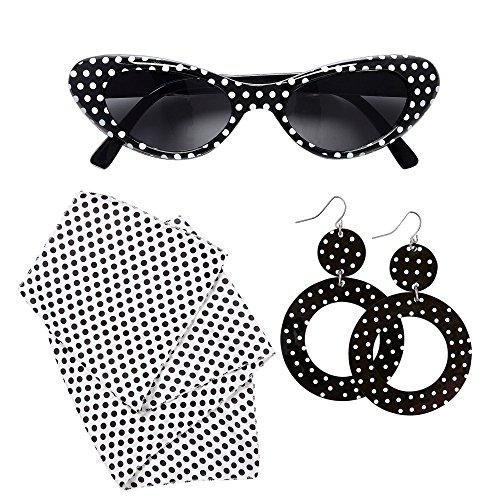 WIDMANN 95717?50's Lady Set Gafas, Pendientes y pañuelo