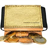 Kleines Portemonnaie Damen in Gold/schwarz - Mini Geldbeutel für die Handtasche Clutch - Kleine Geldbörse - Geschenk für Frauen - Wallets for Women