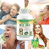 Vitamin B12 365 – 1000 µg – 365 Tabletten – Methylcobalamin – 100% vegan – Leicht Einnahme – Hohe Dosierung 1000 mcg pro Tablette – Vit4ever - 4