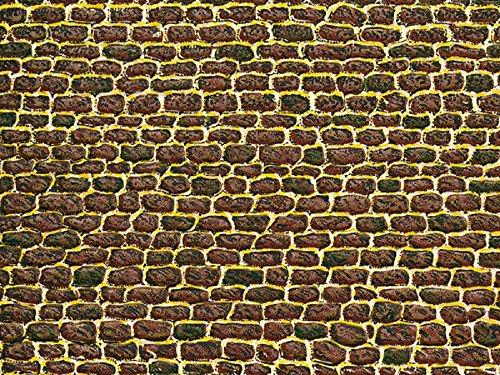 Auhagen 50102.0 - Dekorpappen unregelmäßiges Mauerwerk, 220 x 100 mm, bunt