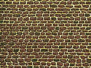 Auhagen 50.102,0 - mampostería Irregular Papel Decorativo, 220 x 100 mm, Colorido