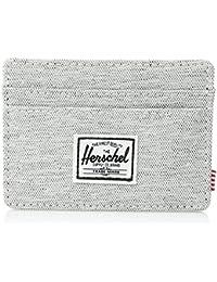 ab707c8e3d Herschel Supply Co. Men's Charlie RFID Card Wallet Light Gray Crosshatch