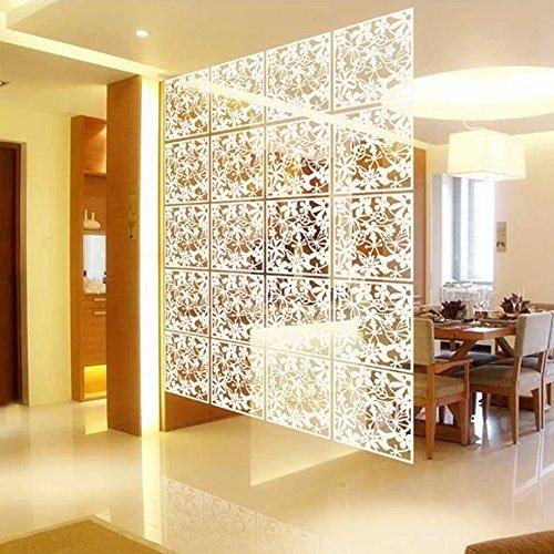 12 unidades paneles separadores pared PVC