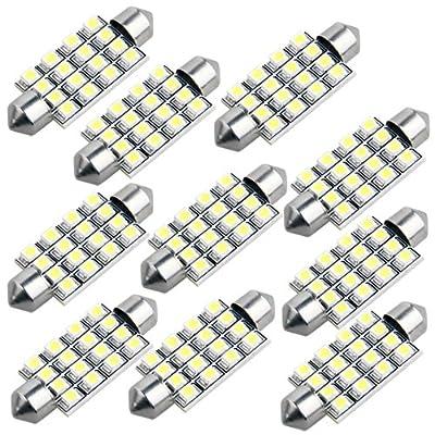 10x Wei 42mm 16 3528 Smd Led 12v Kennzeichenbeleuchtung Soffitte Lampe Licht von emall supply