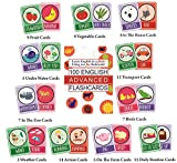 #4: SYGA English Advance Flash Cards 100 Cards For Kids To Learn English