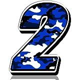 Biomar Labs Startnummer Nummern Auto Moto Vinyl Aufkleber Sticker Blaue Tarnung Camouflage Motorrad Motocross Motorsport Racing Nummer Tuning 7 N 217 Auto
