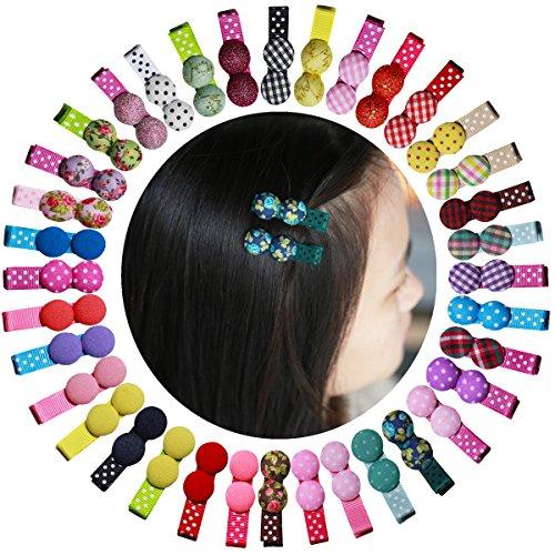 Cute Candy Button Kreis Pilze Reinigungstuch Haar Clips Haarspange für Baby-Mädchen Haar Zubehör (Kleinkind Kostüm Candy)