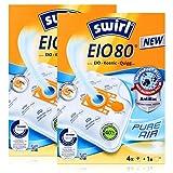 2 Pakete Swirl Staubsaugerbeutel EIO80 / EIO 80 MicroPor Plus AirSpace für EIO , Alaska, Hanseatic