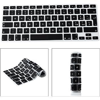 """Italian Copritastiera Silicone Coperchio Della Tastiera per MacBook Pro 13"""" 15"""" 17"""" Aluminum Unibody e Pro Ritina 13"""" 15"""" e MacBook Air 13"""" European Skin - Nero"""