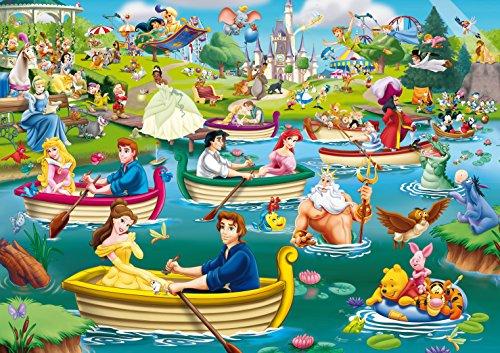 King Disney Fun on the Water 1000 pcs 1000pieza(s) - Rompecabezas (Jigsaw puzzle, Dibujos, Niños, Disney, Multiproperty, Princesses, Mickey Mouse, Winnie the Pooh, Peter Pan, Aristocats, 101 Dalmatiers, Niño/niña)