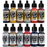 Airbrush Farben 12 x 17 ml Vallejo Model Air Bunt Metallic Farben-Set Airbrushfarben