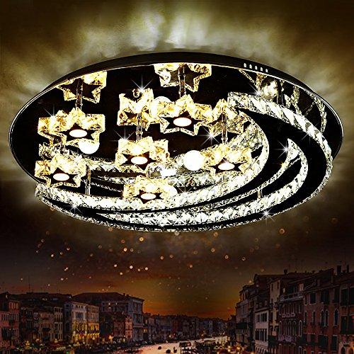 Mond Trommel-kunst (Kunst, Die Kreative Einfache Atmosphärische Entfernten Schlafzimmer Wohnzimmer Lampe Led Leuchten Warm Runden Mond Kristall Deckenleuchte,80Cm Farbe)