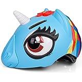 ANIMILES Einhorn Fahrradhelm Kinder - Leichter Helm für Fahrrad, Laufrad, Skateboard, Roller - Kinderhelm Radhelm Kind, Klein