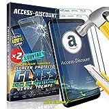 Access-Discount 10004; LOT de 2 Pack X2 ASUS ZC554KL Zenfone 4 max plus - Film En VERRE trempe vitre durci Solide pour Ecran sur mesure adapté & dédié ASUS ZC554KL Zenfone 4 max plus