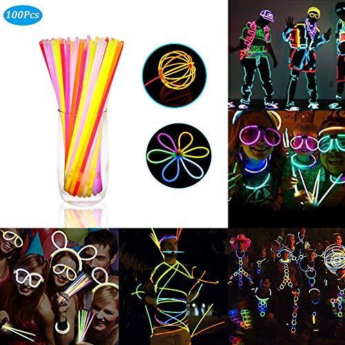 Imagen de zorara varitas luminosas,【1 barril 100】 pulseras luminosas, adecuado para fiestas, banquetes, cumpleaños, decoraciones de carnaval