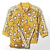 adidas Originals Jeremy Scott JS Bones TS Track Suit Kinder Anzug Gelb Knochen, Größe:104, Farbe:Gelb