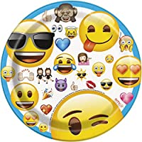 18cm emoji Assiettes de fête, Lot de 8