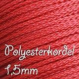 Papasliebchen 1m Polyesterkordel 1,5mm reißfest rot