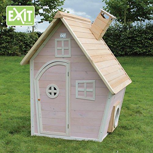 EXIT Fantasia 100 Pink / Kinderspielhaus / Material: Zedernholz / Maße: 125x133x158 cm / Gewicht: 36 kg / für Kinder ab 3 Jahren