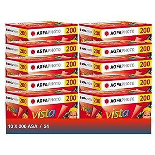 Agfa Photo Vista Plus 200 135-24 Camera Film (Pack of 10)