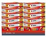 AgfaPhoto Vista plus 200 135-24 Negativ Film für Papierbilder (10-er Packbis zu 240 Aufnahmen)