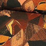 Stretchstoff grafisches Muster braun Modestoff -Preis gilt