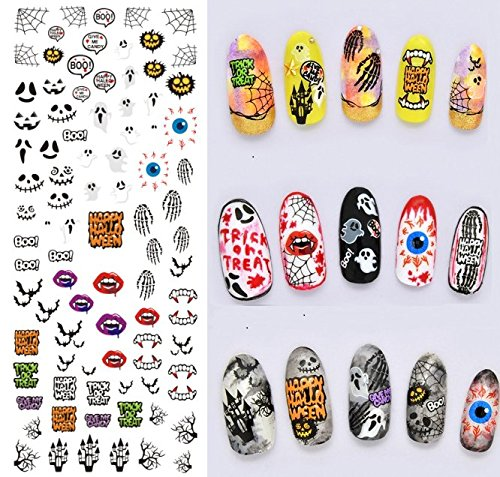 Nail Art Wasser Transfer Sticker Nail Sticker Tattoo Halloween - DS243 Nail Sticker Tattoo - FashionLife
