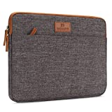 "DOMISO 13 - 13.3 Zoll Laptophülle Hülle Tasche Sleeve Case Etui Notebook Schutzhülle Canvas-Gewebe für 13"" MacBook Air / 13.5"" Microsoft Surface Book / 13.3"" Dell XPS 13 Inspiron 13, Braun"