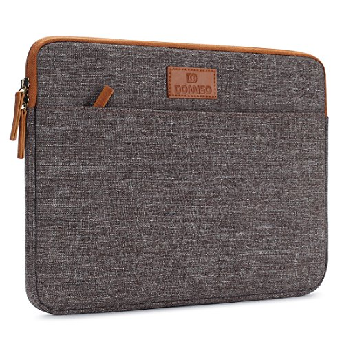 "DOMISO 13 - 13.3 Zoll Laptophülle Hülle Tasche Sleeve Case Etui Notebook Schutzhülle Canvas-Gewebe für 13"" MacBook Air / 13.5\"" Microsoft Surface Book / 13.3\"" Dell XPS 13 Inspiron 13, Braun"