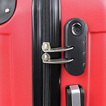 61z7ZGHBhTL. SS416  - Todeco - Maleta De Mano, Equipaje de Cabina - Tamaño: 49 x 35 x 21 cm - Material: Plástico ABS - Esquinas protegidas, Llevar-en 51 cm, Rojo, ABS