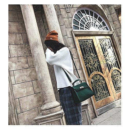 Metallische Lock Persönlichkeit Wild Schultertasche Diagonal Paket Matt kleine Quadratische Tasche Travel Bag's Handtasche, Grün Grün