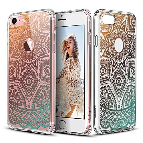 esr iPhone 7 Hülle (4,7 Zoll), Hybrid Hülle Muster, iPhone 7 Bumper Case [Weiche TPU Rahmen + Hart PC Rückdeckel] Schutzhülle für iPhone 7 (Henna)