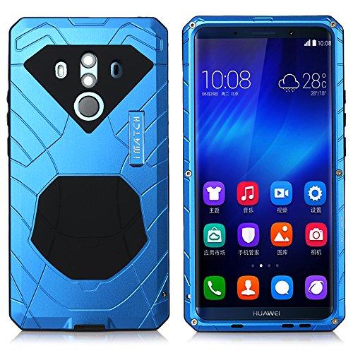 Huawei Mate 10 Pro Hülle Case, Eastcoo Wasserdicht Stoßfest Alloy Aluminum Metal Bumper Soft silikon Military Schwer Starkes Stoßfestes Hartes Hülle Tasche Cover für Huawei Mate 10 Pro (blue)