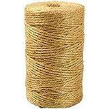 Sxgyubt 2mm Kunst Ambachten Jute Touw Roll Heavy Duty Verpakking String voor DIY Ambachten Party Decor Bundeling Tuinieren 10