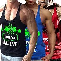 Alivebody Herren Bodybuilding Tank Top Fitness 2cm Strap Stringer Sportshirt