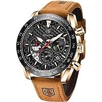 BY BENYAR Orologio Cronografo da Uomo Casual al Quarzo Moda Sportivo 30M impermeabile Elegante Regalo per Uomo