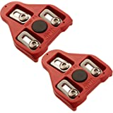Bike Cleats Compatible with Look Delta (9 Degree Float) - Indoor Cycling & Road Bicycle Spd Cleat Set
