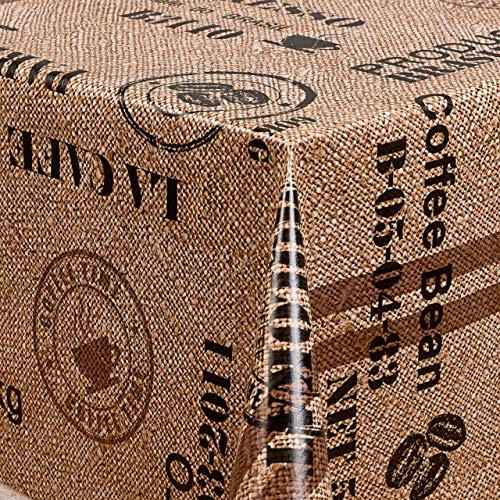 Belito Beige Wachstischdecke Kaffee Latte Beige Wachstuchtischdecke Tischdecke abwaschbar Gartentischdecke 200x140cm OVAL -