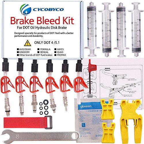 cycobyco Dot Öl Bremse, Entlüftungs-Kit Bike Fahrrad Werkzeug für AVID Sram Dode Juicy Hope bngal Hayes J3J5J7Formel, Genaral kit