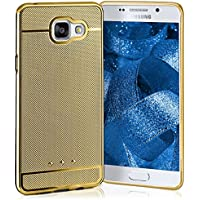Case Glossy pour Samsung Galaxy A5 (2016)   Etui en silicone avec effet chrome métallique   Thin Sac de protection cellulaire OneFlow   Backcover en Nugget-Gold