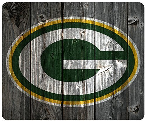 Green Bay Packers Wood Look Mouse Pad, Customized Rectangle Mousepad (Bay Green Packers-computer)