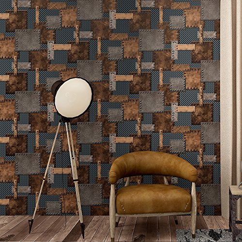 industrial-architectural-style-tin-trunk-patch-pattern-3d-embossed-wallpaper-33-10m-full-roll-yellow