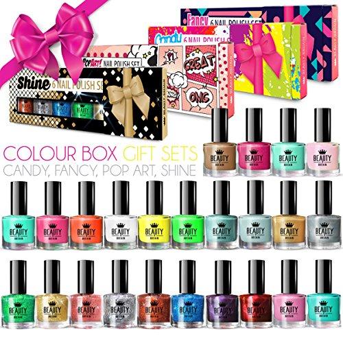 24 x Luxus Große Nagellack 24 Verschiedene Farben 4 Geschenkboxen 10 ML Qualität -