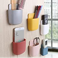 MEHER multipurpose wall holder with mobile charging point/stationary storage/bathroom acceceries/remote holder/makup…