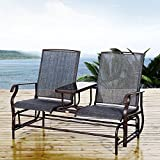 Outsunny Metal Double Swing Chair Glider Rocking Chair Seat Outdoor Seater Garden Furniture Patio...
