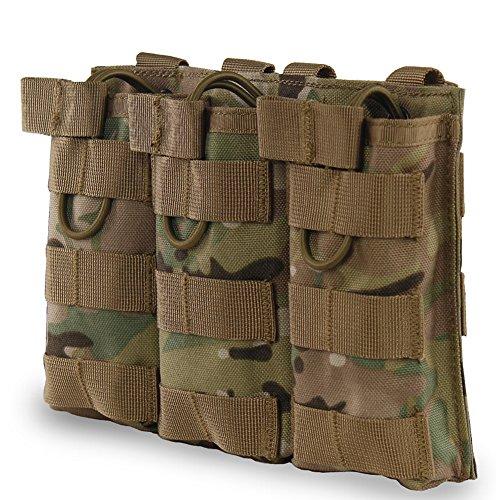XUE Magazin Pouch Pistole Molle Flecktarn Multicam für M4 M16 AR-15 Magazintasche Airsoft Magazin Tasche Tactical Rucksack Weste Belt Zubehör