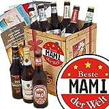 Beste Mami der Welt | Geschenk Box Bier | Bierbox DDR | Beste Mami der Welt | Bier Paket | Mami Geschenk Geburtstag | INKL 3 Urkunden, 6 Geschenkkarten + Umschläge, Bier Bewertungsbogen
