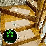 BigFamily Treppen-Rutschfeste leuchtende Matten-Boden-schützende Wolldecke-Teppich-Auflage-Polyester-Haus